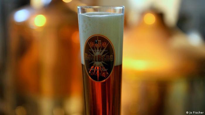 Rollberg Brauerei: Glas Rollberg-Bier, Berlin 2010; Copyright: Jo Fischer