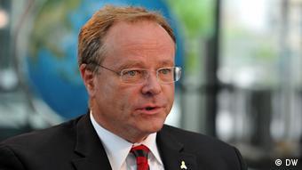 Deutschland Entwicklingsminister Dirk Niebel bei Deutsche Welle in Bonn