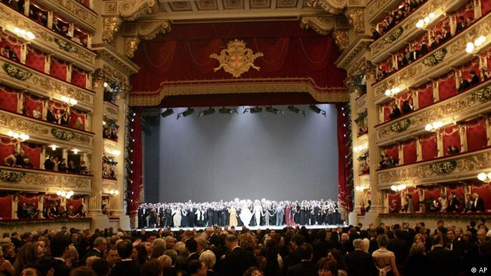 The interior of Milan's La Scala opera house (AP)