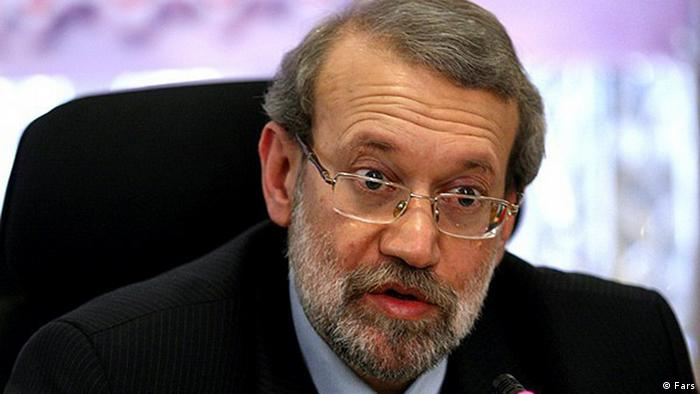 Titel: Ali Laridschani ( Laridjani ), Parlamentspräsident Iran  Quelle: Fars  Zulieferer: Davoud Khodabakhsh