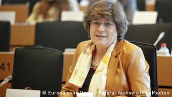Ana Maria Gomes Mitglied des Europäischen Parlaments beim AFET committee Meeting
