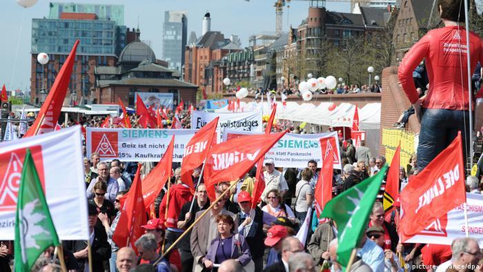 Первомайская демонстрация в Гамбурге