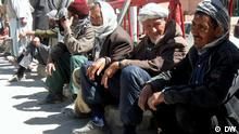 Arbeitslose in Kabul Afghanistan