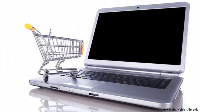 Электронные покупки - символическое изображение