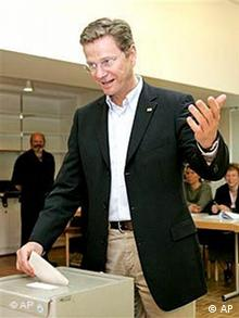 Wahl NRW: Stimmabgabe Westerwelle