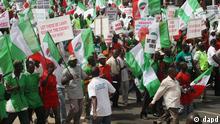 Nigeria Arbeiterkongress protestiert 2010