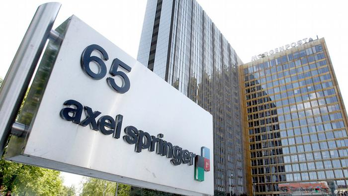 ** FILE ** This May 2, 2007 file photo shows an exterior view of the Axel Springer publishing house in Berlin. FIA president Max Mosley has filed a lawsuit against Springer AG, the publisher of Germany's largest newspaper 'Bild' Friday, July 25, 2008, that is similar to the case he won over an English tabloid this week, contending that his sex acts with several prostitutes did not have a Nazi theme. (ddp images/AP Photo/Michael Sohn).