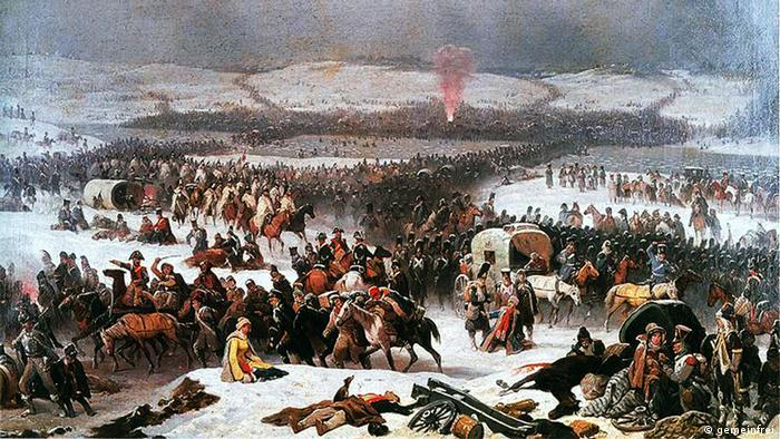 Януарий Суходольский. Переправа войск Наполеона через Березину