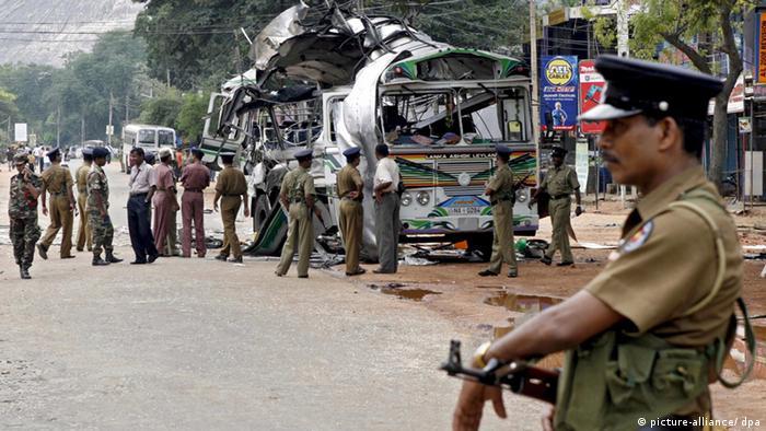 Sri Lanka Anschlag auf Bus Bürgerkrieg Archivbild