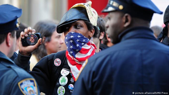 Aktivisti pokreta Occupy u Zuccotti Parku na Manhattanu