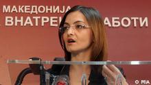 Mazedonische Innenministerin Gordana Jankuloska Bilder wurden von mazedonischer Nachrichtenagentur MIA in Skopje, Mazedonien am 02.05.2012 gemacht