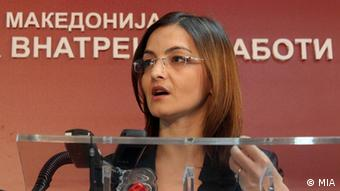Mazedonische Innenministerin Gordana Jankuloska