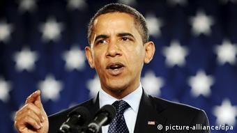 Barack Obama speaking in 2009. Photo: EPA/TANNEN MAURY +++(c) dpa - Bildfunk+++