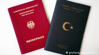 German and Turkish passports side-by-side