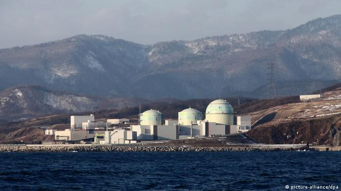 The Tomari nuclear plant sits on a shoreline
