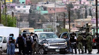 Polizeieinsatz nach Straßenkampf (Foto: AP)