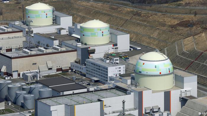 In this aerial photo taken April 22, 2012, three reactors, from left, No. 1, No. 2 and No. 3, are seen at the Tomari Nuclear Power Plant, operated by Hokkaido Electric Power Co., in Tomari in Japan's northernmost main island of Hokkaido. Japan will be free of atomic power for the first time since 1966 on Saturday, May 5, when the Tomari No. 3 reactor, the last of its 50 usable reactors, is switched off for regular inspections. The central government would like to restart them at some point, but it's running into strong opposition from local citizens and governments.(AP Photo/Kyodo News) JAPAN OUT, MANDATORY CREDIT, NO LICENSING IN CHINA, HONG KONG, JAPAN, SOUTH KOREA AND FRANCE