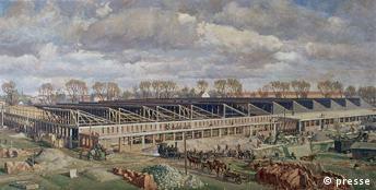 Kunst aus Auschwitz Wladyslaw Siwek Bau der Werkhalle / Budowa Werkhalle