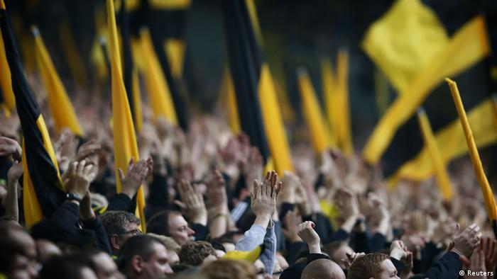 Supporters of German soccer champion Borussia Dortmund