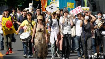 Protest gegen Atomkraft in Japan