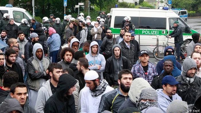 Demonstration of Salafists in Bonn