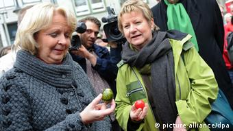 Kraft and her former Green coalition partner Sylvia Löhrmann