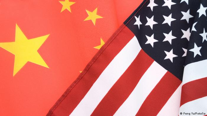 China and USA Flag
