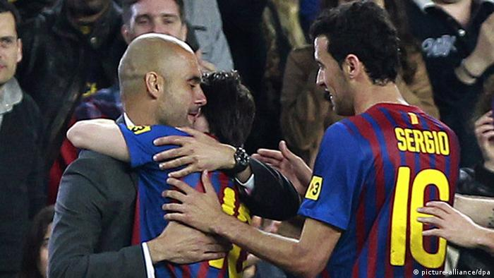 FC Barcelona Messi und Guardiola