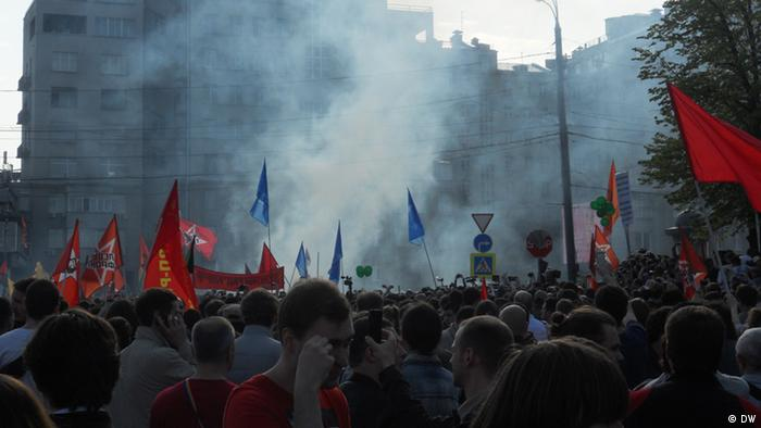 در درگیریهای روز یکشنبه (۶ آوریل) در مسکو، صدها تن بازداشت شدند