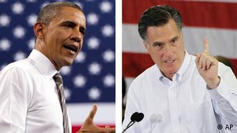 Mugshots of President Obama and Mitt Romney