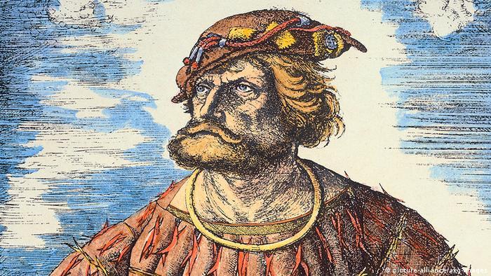 Bild des deutschen Seeräubers Klaus Stoertebeker, der 1401 in Hamburg hingerichtet wurde.