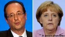Francois Hollande y Angela Merkel: dos puntos de vista distintos. ¿Lograrán ponerse de acuerdo?