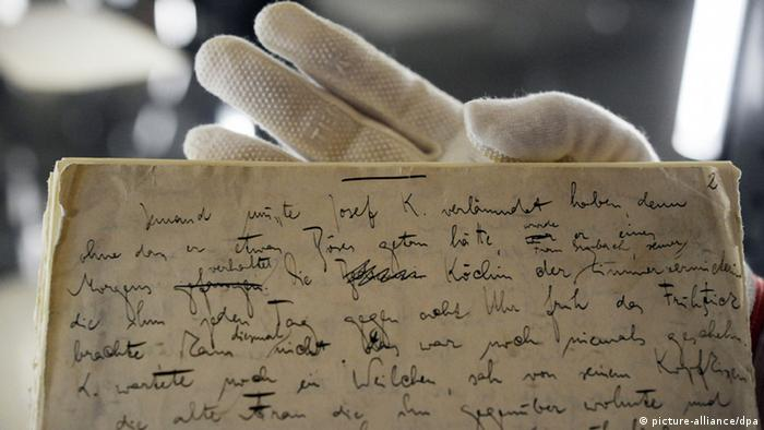 Kafkas Manuskripte im Literaturachiv Marbach