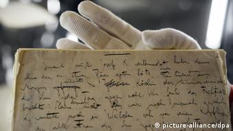 Kafkas Manuscript im Literaturachiv Marbach