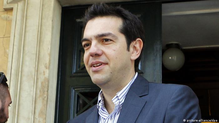 Alexis Tsipras, leader of the Left Coalition Party SYRIZA.