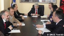 DUI-Parteiführung hat eine Besprechung in Mala Recica (Mazedonien), Mai 2012; Copyright: DW/S. Toevski