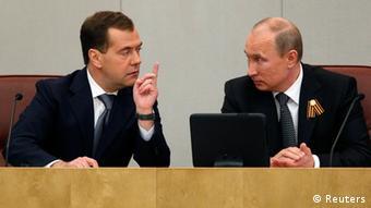Медведев и Путин в Госдуме