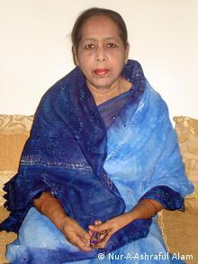 Freiheitskämpferin Khaleda Khanam in Dhaka, Bangladesch. Datum: 05.05.2012, Dhaka, Bangladesch. Foto: Nur-A-Ashraful Alam