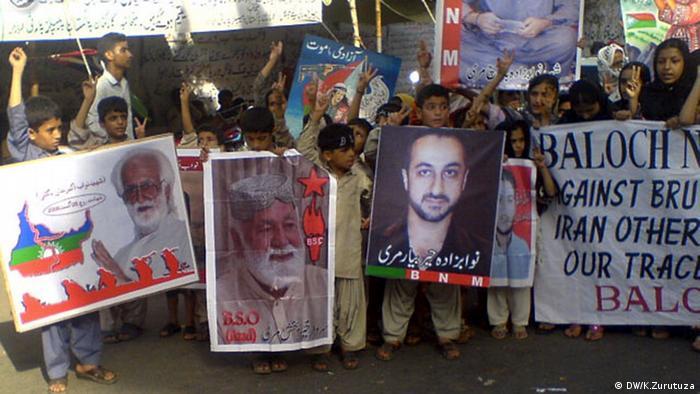 Pro Baloch demonstrators
