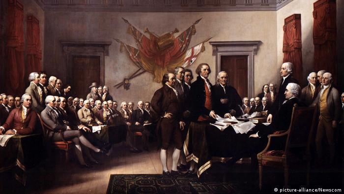 USA Geschichte Unabhängigkeitserklärung wird dem Kontinentalkongress vorgelegt