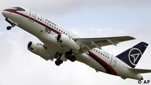 Russisches Flugzeug Superjet 100 Sukhoi