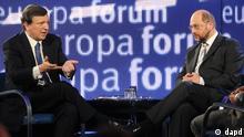 José Manuel Barroso y Martin Schulz. (Foto de archivo).