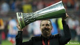 Atletico Madrid Simeone jubelt