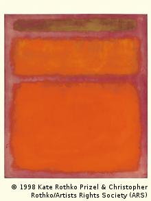 Rothkos Bild Organge Red, Yellow. Hochkantes orangenes (Foto:Prizel & Christopher Rothko/Artists Rights Society (ARS), New York via Christie's/AP/dapd)