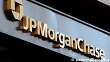 Logo der JP Morgan Chase Bank, New York