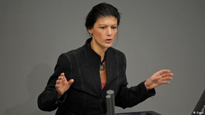 Sahra Wagenknecht Fraktionsvorsitzende Die Linke Bundestag