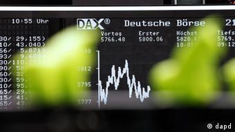 Deutschland Finanzkrise Euro Börse in Frankfurt am Main