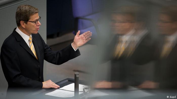 Westerwelle Bundestag Rede Regierunserklräung Krise Schuldenkrise