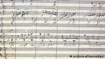 Score of Beethoven's Ninth Symphony, Copyright: picture-alliance/dpa