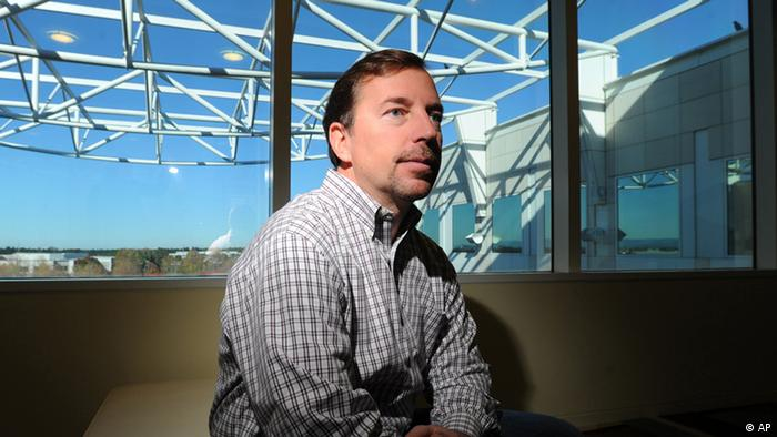 In this Nov. 24, 2010 photo, then PayPal president Scott Thompson, who in January 2012 was named CEO of Yahoo Inc., poses for photos at PayPal's offices in San Jose, Calif. Yahoo shareholder and New York hedge fund manager Daniel Loeb questioned Thompson's qualifications and integrity after exposing a misrepresentation about the executive's education. The fabrication confirmed by Yahoo Inc. on Thursday, May 3, 2012 gives Loeb more artillery as he tries to topple a board of directors favored by Thompson. (AP Photo/Noah Berger)